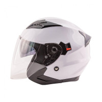 Zox Journey Solid Open Face Helmet White View