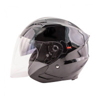 Zox Journey Solid Open Face Helmet Black View