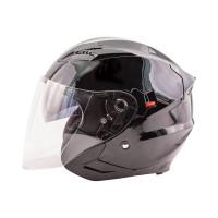 Zox Journey Solid Open Face Helmet Black View
