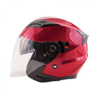 Zox Journey Solid Open Face Helmet Wineberry View