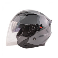 Zox Journey Solid Open Face Helmet Titanium View