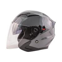 Zox Journey Solid Open Face Helmet Titanium View