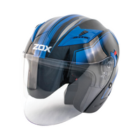 Zox Journey Trip Open Face Helmet Blue View