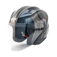 Zox Journey Trip Open Face Helmet Silver View