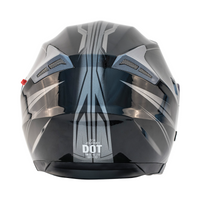 Zox Journey Trip Open Face Helmet Silver Back View