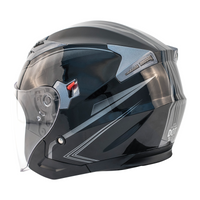 Zox Journey Trip Open Face Helmet Silver Side View
