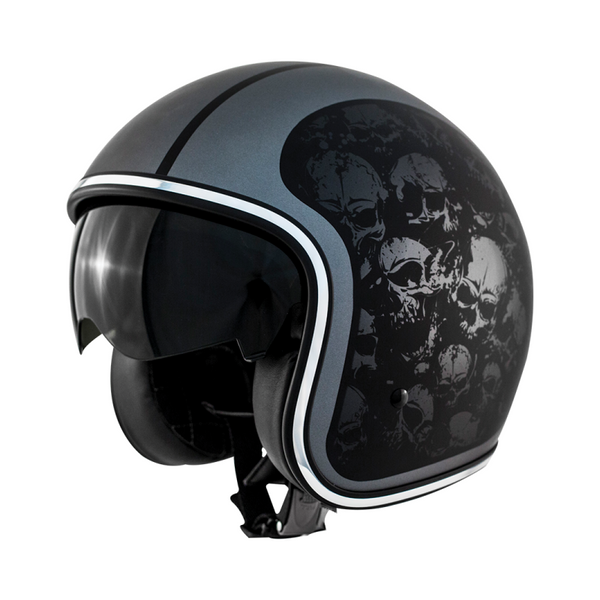 Zox Route 80 Skulls Open Face Helmet