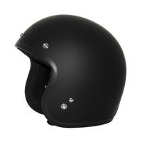 Zox Route 80 Vintage Solid Open Face Helmet Matte Black View