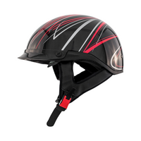 Zox Roadster DDV Freehand Open Face Helmet Red View