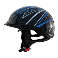 Zox Roadster DDV Freehand Open Face Helmet Blue View