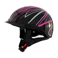 Zox Roadster DDV Freehand Open Face Helmet Pink View