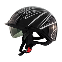 Zox Roadster DDV Freehand Open Face Helmet Silver View