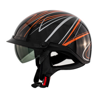 Zox Roadster DDV Freehand Open Face Helmet Orange View