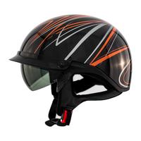 Zox Roadster DDV Freehand Open Face Helmet Orange View