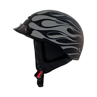 Zox Alto Custom Hot Rod Half Helmet