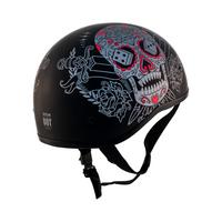 Zox Retro Old School Muerte Half Helmet