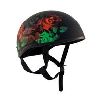Zox Retro Old School Roses Half Helmet