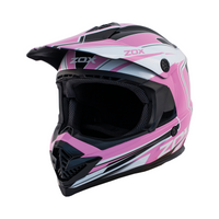 Zox Rush Lucid Off Road Full Face Helmet Pink View