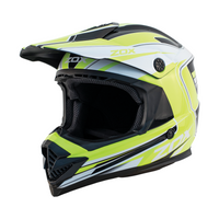 Zox Rush Lucid Off Road Full Face Helmet Yellow View
