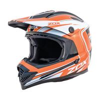 Zox Rush Lucid Off Road Full Face Helmet Orange View