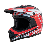Zox Rush Lucid Off Road Full Face Helmet Red View