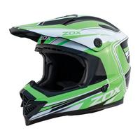 Zox Rush Lucid Off Road Full Face Helmet Green View