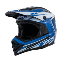 Zox Rush Lucid Off Road Full Face Helmet Blue View