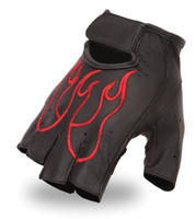 First Classics Men's Red Flame Fingerless Gloves