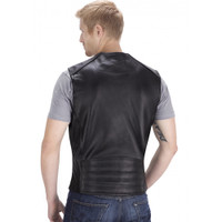 Viking Cycle Five Cent Motorcycle Vest for Men Back Side