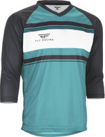Fly Racing Ripa Three- Quater Jersey Teal/Black/White Main View