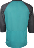 Fly Racing Ripa Three- Quater Jersey Teal/Black/White Back View