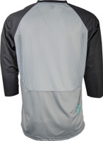 Fly Racing Ripa Three- Quater Jersey Grey/Black/Teal Back View