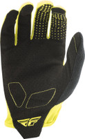 Fly Racing Media Gloves Lime Back View