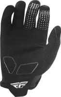 Fly Racing Media Gloves Black Back view