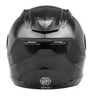 G-Max FF-88 Full Face Solid Street Helmet Back Veiw