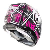 G-Max MD-01 Pink Ribbon Riders Helmet Inner View