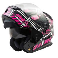 G-Max MD-01 Pink Ribbon Riders Helmet Modular view