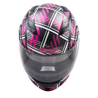 G-Max MD-01 Pink Ribbon Riders Helmet Front View