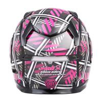G-Max MD-01 Pink Ribbon Riders Helmet Back View