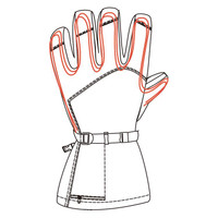 Tour Master Synergy 7.4V Heated Women's Leather Gloves 2
