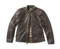 Roland Sands Design Men's Rockingham Leather Jackets Brown Open View