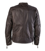 Roland Sands Design Men's Rockingham Leather Jackets Brown Back View
