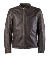 Roland Sands Design Men's Rockingham Leather Jackets Brown Front View