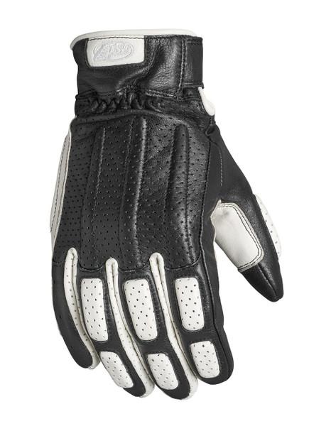 Roland Sands Design Men's Rourke Leather Gloves White Main View