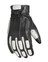 Roland Sands Design Men's Rourke Leather Gloves White Main View
