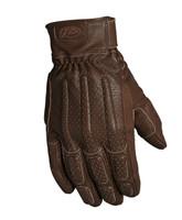 Roland Sands Design Men's Rourke Leather Gloves Tobacco Front View