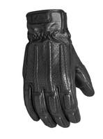 Roland Sands Design Men's Rourke Leather Gloves Black Front View
