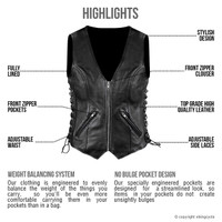 VikingCycle Haughty Motorcycle Vest Highlights