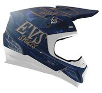 EVS T5 Fink Off Road Helmet For Men's Matte Blue View