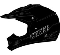 Cyber UX-24 Off Road Helmets For Men's Matte Black View